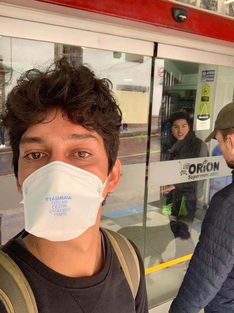Regulations meant Bowen man George Bluck and his mum were not able to leave Cusco and had to wear masks whenever they were out of their Airbnb. Temperature testing was imposed at all stores. They could not return home from Peru because of coronavirus travel restrictions.