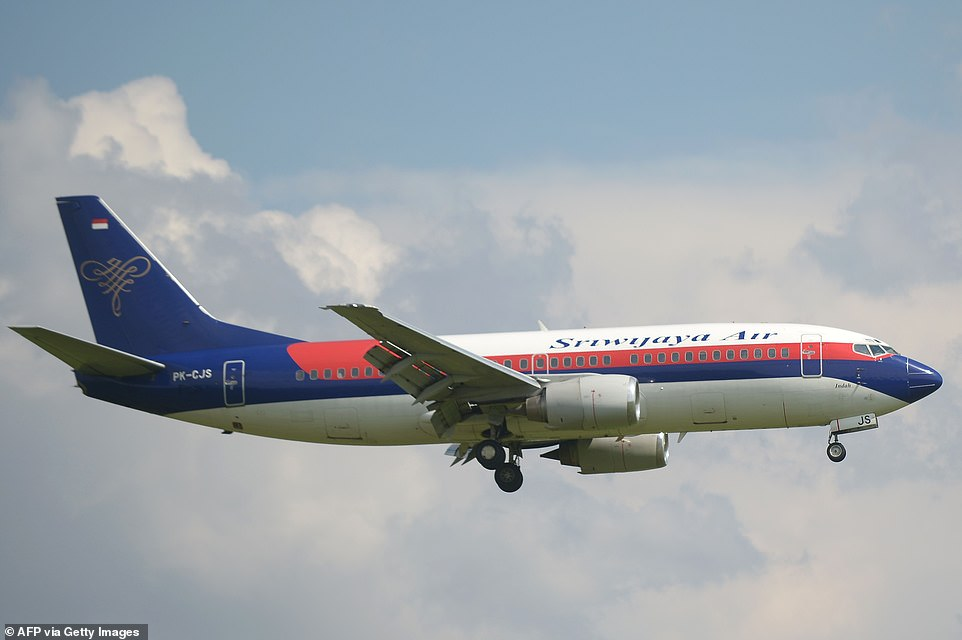 The Sriwijaya Air plane(file image of a similar plane) took off from the Indonesian capital on Saturday and was heading to Pontianak in West Kalimantan province when it lost contact with the control room, according to local media reports