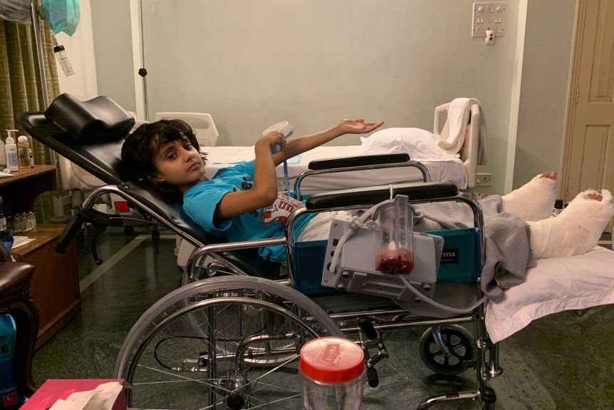 Dhanvi in hospital