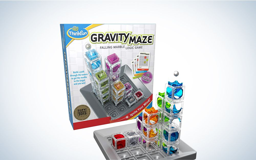 This comes with a game grid, nine towers, and a target piece, and the levels of its challenges range from beginner to expert.