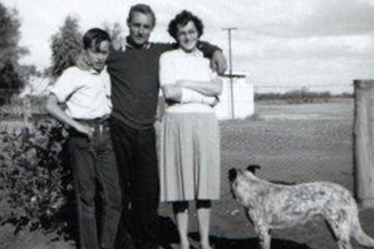 The Severins at their Curtin Springs property, in the 1960s.
