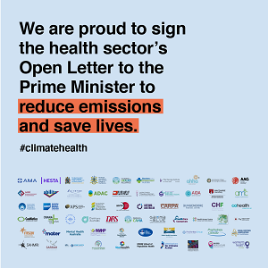 We are proud to sign the health sector's Open Letter to the Prime Minister to reduce emissions and save lives. #climate health. A list of logos of organisations who are signatories to the letter is included below the text.